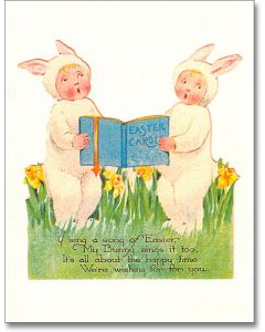 Vintage Easter Card - Sing a Song