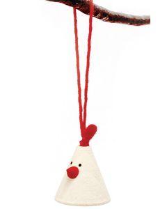 Elton the White Chicken Ornament
