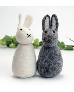 Felted Big Bunnies from Denmark