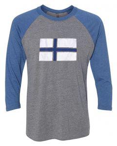 Finland Flag Baseball Tee