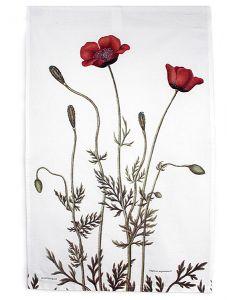 Flora Danica Poppy Dishtowel