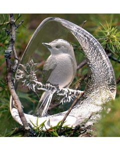 Mats Jonasson Flycatcher Glass Block