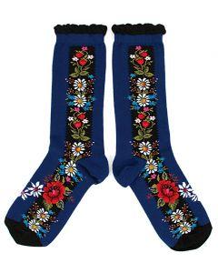 Ozone Navy Folklore Socks