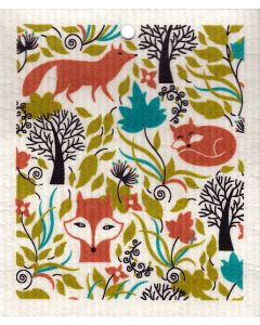 Foxes Cellulose Dishcloth