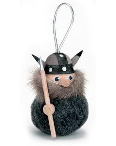 Fuzzy Viking Man Ornament