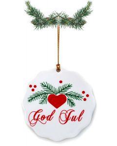 God Jul Ceramic Ornament