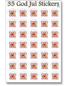 God Jul Stickers