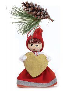 Golden Heart Tomte Ornament