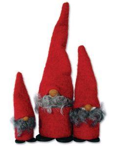 Red Wool Tomten Trio