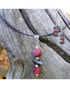 Thulite Chip Jewelry