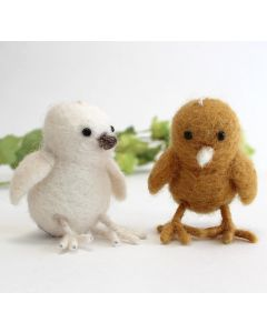 Hand Felted Chick Ornaments