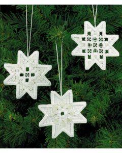 Hardanger Stars Ornament Kit
