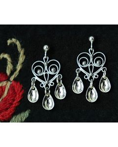 Elegant Heart Sølje Earrings