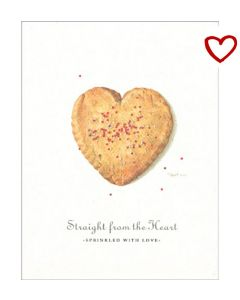Sweetheart Sugar Cookies Recipe Card