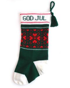 God Jul Heartflakes Stocking