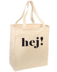 Hej! Tote (Swedish or Danish)