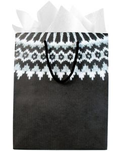 Hekla Black Wool Gift Bag