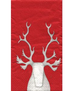 Red Hekla Reindeer Dinner Napkins