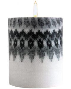 White Wool Pillar Candle