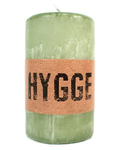 Green Hygge Pillar Candle