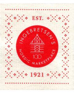 Ingebretsen's 100th Anniversary Cellulose Dishcloth