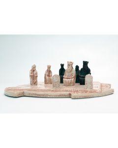 Ivory Viking Chess Set