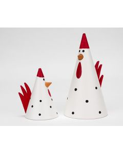 Jussi & Gillis - the White Polka Dot Roosters