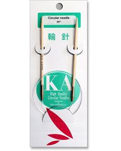 """KA Bamboo 29"""" Circular Knitting Needles"""
