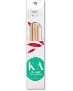 "KA Bamboo 8"" Double-Pointed Knitting Needles"