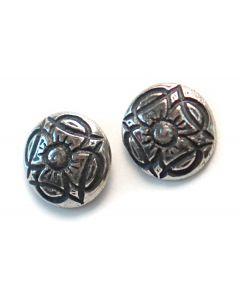 Klover Pewter Button Earrings