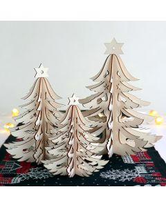 Laser-Cut Wood Tree