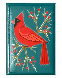 Cindy Lindgren Cardinal & Berries Magnet