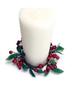 Lingonberry & Bay Pillar Candle Ring