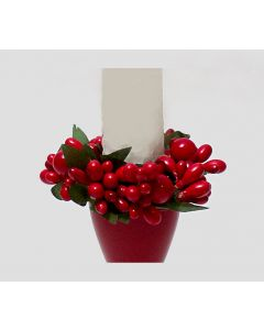 Lingonberry Taper Candle Ring