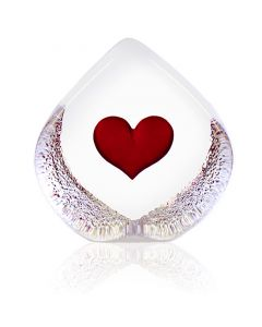 Mats Jonasson Heart Crystal Block