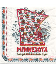 Minnesota Principle Hot Dishes by Region Napkins