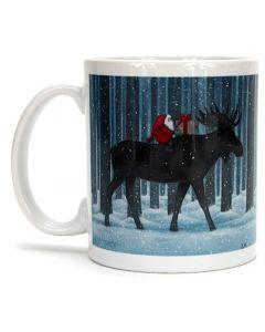 Moose Rider Tomte Mug