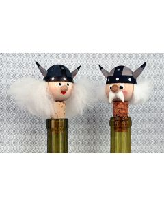Ms. & Mr. Viking Bottle Stoppers