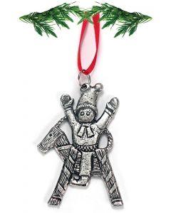 Pewter Julbuk Ornament