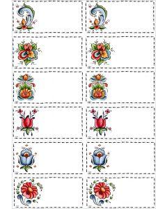 Rosemaling Gift Labels