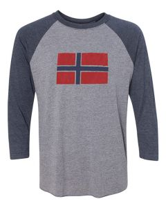 Norway Flag Baseball Tee