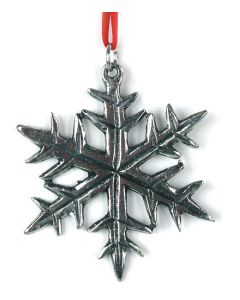 Snowflake Pewter Ornament