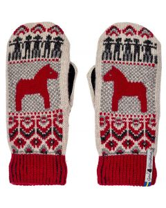 Dalarna Suede-Palm Mittens
