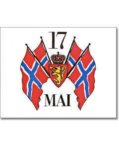 Syttende Mai Flags Greeting Card