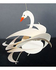 Proongily Ruffled Swan Ornament