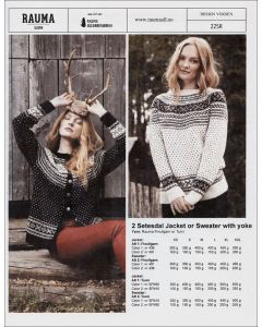 Rauma 225R-2 Setesdal Jacket or Sweater Pattern