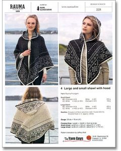 Rauma 222R-4 Shawls with Hoods