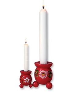 Red Ball Candleholders