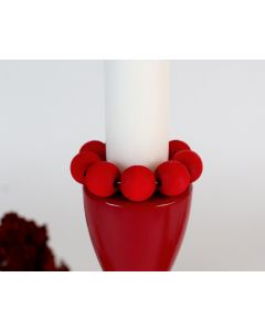 Red Bead Candle Ring