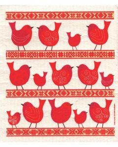 Folk Birds Dishcloth